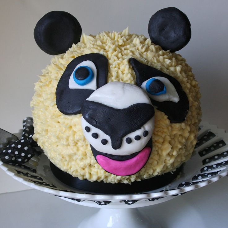 150 pound Panda Birthday Cake for your Kid Party Sharty
